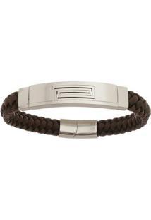 Bracelete De Aço Inox Tudo Joias Com 12Mm De Largura - Unissex-Prata