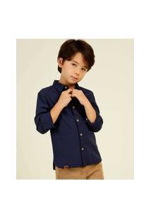 Camisa Infantil Manga Longa Mr Tam 4 A 10