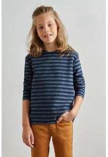 Camiseta Infantil Pf Reserva Mini Ml Dupla Face Navy Masculina - Masculino-Marinho