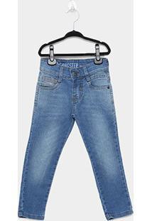 Calça Jeans Infantil Gangster Lavagem Clara Masculina - Masculino-Azul Claro