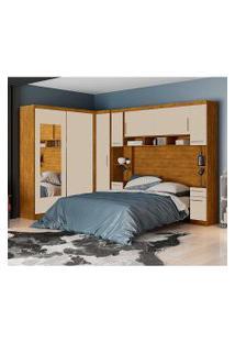 Dormitório De Casal Elizabeth Robel C/ Espelhos Nature Off White Robel Móveis