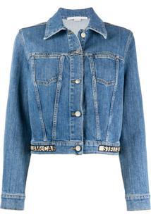 Stella Mccartney Jaqueta Jeans Cropped - Azul