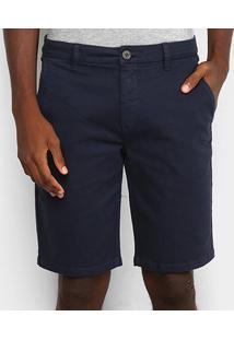 Bermuda Sarja Calvin Klein Alfaiataria Masculina - Masculino-Marinho