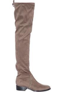 Bota Over The Knee Canal - Cinza