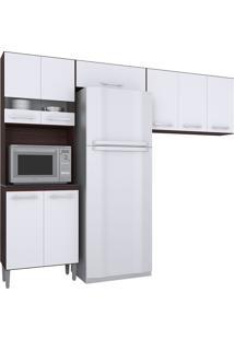 Cozinha Compacta 3 Peças Karina -Poquema - Capuccino / Branco