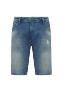 Bermuda Masculina Jeans Rasgos Blue - Azul