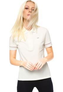 7a4e3ca3a Camisa Polo Manga Curta Lacoste Tag Off-White