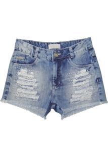 Bermuda Sport Brazil Strass Jeans