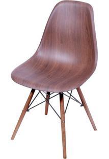 Cadeira Eames Polipropileno Amadeirado Escuro Base Escura - 44856 - Sun House