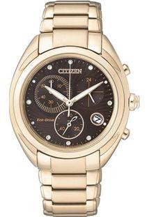 Relógio Analógico Tz28324P- Dourado & Rosê Gold- Citcitizen