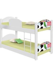 Beliche Infantil Fazendinha Feliz Com 2 Colchãµes Casah - Branco/Multicolorido - Menina - Dafiti