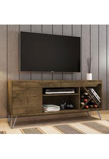 Rack Para Tv Até 55 Polegadas Kenzo 1 Porta Madeira Rústica - Móveis Bechara