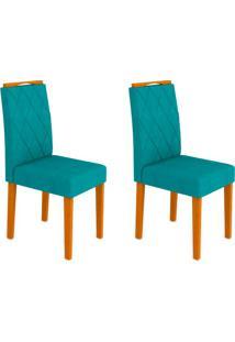 Conjunto Com 2 Cadeiras Isabela Ipê E Turquesa