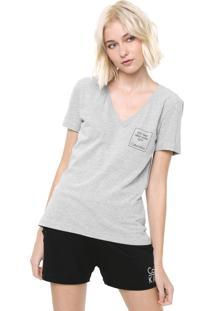 Camiseta Calvin Klein Underwear Estampada Cinza