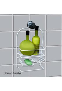 Porta Shampoo Jumbo- Branco- 35X21X10Cm- Metaltrmetaltru