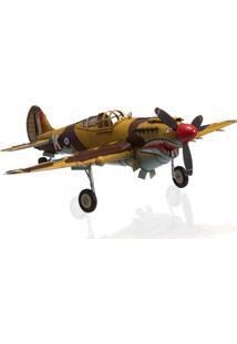 Enfeite Em Ferro 1941 Curtiss Hawk 81A Marrom E Amarelo