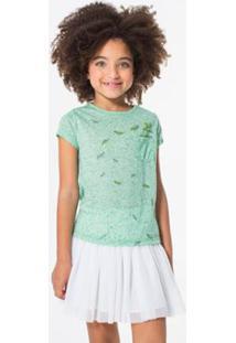 Camiseta Reserva Mini Bolsinho Folhas Feminina - Feminino