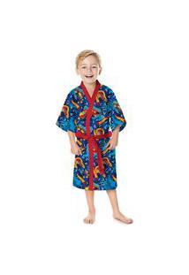 Roupão De Banho Infantil Menino Authentics Patrulha Aranha