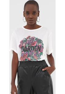 Camiseta Colcci Floral Off-White