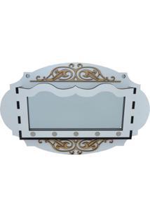 Porta Chaves E Correspondência Crie Casa Oval Branco Com Espelho