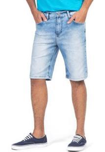Bermuda Jeans Claro Masculino - Masculino-Azul