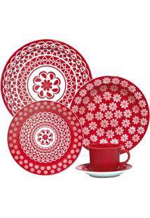 Aparelho De Jantar E Chá 30 Peças Floreal Renda 005227 Oxford