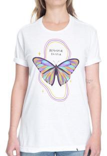 Resistir Existir #Pride - Camiseta Basicona Unissex