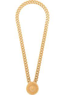 Versace Colar Com Medalhão Medusa - Dourado