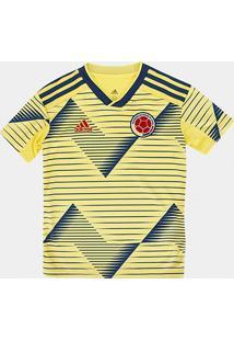 Camisa Colômbia Infantil Home 19/20 S/N° Torcedor Adidas - Masculino
