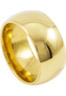 Aliança De Tungstênio New Tungsten 10Mm Dourada