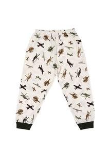 Pijama Longo Infantil Brilha No Escuro Aeronave Dadomile-8