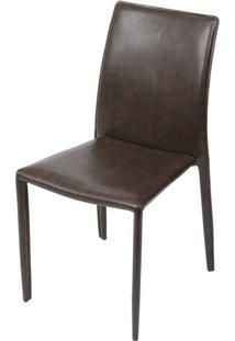 Cadeira Bali Estofada Couro Ecologico Retro - 51308 - Sun House