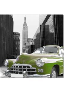 Quadro Impressão Digital Carro Verde 45X45 Uniart