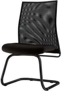 Cadeira Liss Assento Crepe Base Fixa Preta - 54651 Sun House