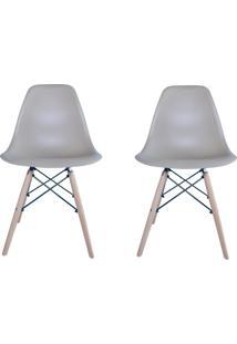 Kit 2 Cadeiras Eiffel Facthus Charles Eames Em Abs Nude