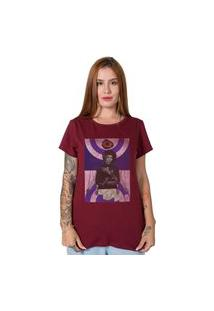 Camiseta Jimi Hendrix Collage Bordô Stoned