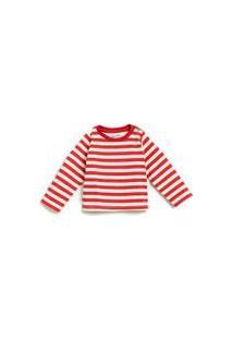 Camiseta Bb Ml Listra Vermelha Off White