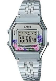 Relógio Casio Vintage Digital La680Wa-4Cdf-Br Feminino - Feminino-Prata