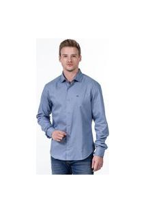 Camisa Javali Slim Logo Azul Claro