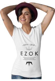 Camiseta Ezok Gola V Ezok Crew Branco