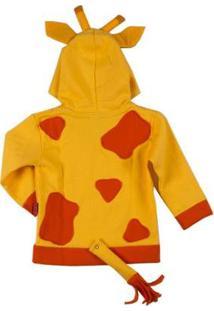 Casaco Moletom Infantil Girafa Feminina - Unissex-Amarelo
