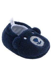 Pantufa Pimpolho Infantil Azul Marinho