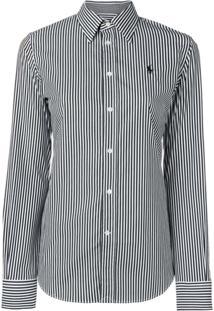 Polo Ralph Lauren Camisa Listrada - Preto