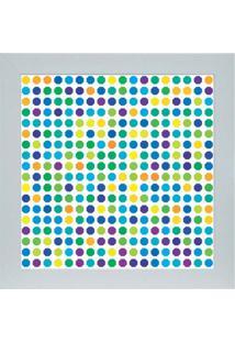Quadro 65896 Abstrato 33X33 Cm Branco