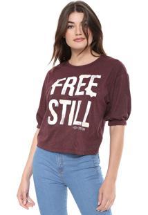 Camiseta Triton Recorte Vinho