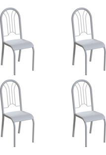Conjunto Com 4 Cadeiras Hervey Branco