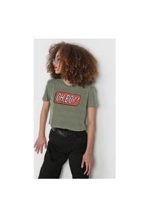 Camiseta Cropped Oh, Boy! Gamer Verde