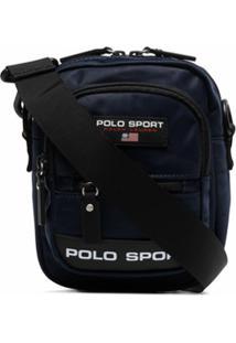 Polo Ralph Lauren Clutch Com Zíper E Estampa De Logo - Azul