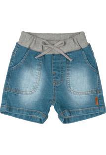 Bermuda Infantil Jeans Azul