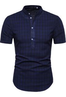 Camisa Xadrez York - Azul